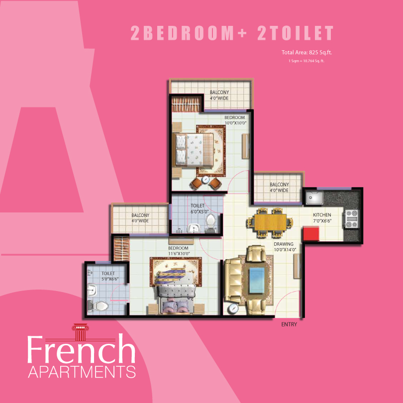 French apartments floor plans for Apartment floor plans auckland