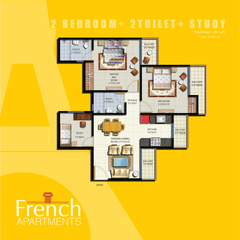 French Apartments | Floor Plans